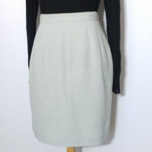 Lord & Taylor Pencil Skirt Sz 8p Grey